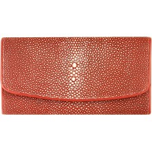 Genuine stingray leather wallet LDST08SA Red