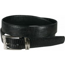 Genuine lizard leather belt LIZ102 Black