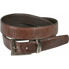 Genuine lizard leather belt LIZ102 Brown