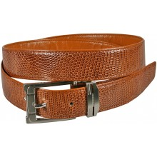 Genuine lizard leather belt LIZ102 Tan