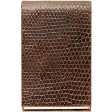 Genuine lizard leather card holder LIZCARD007 Brown