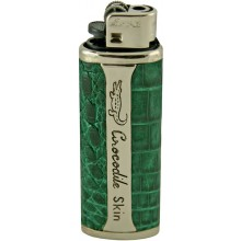 Genuine alligator leather lighter holder LTCM Green