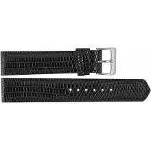 Genuine lizard leather watch band LWB001 Black