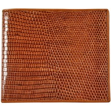 Genuine lizard leather wallet LWUS001 Tan