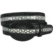 Genuine stingray leather belt MBH1-5 Black