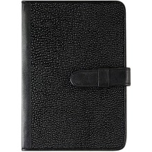 Genuine stingray leather passport cover NB20 Black