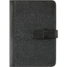 Genuine stingray leather passport cover NB20SA Black