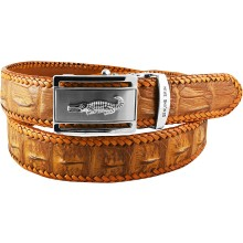 Genuine crocodile leather belt NCB01-15 Tan