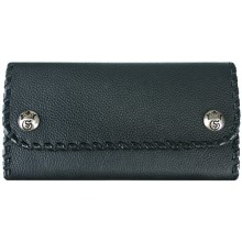 Genuine stingray and calf leather wallet NRSTW003L Black