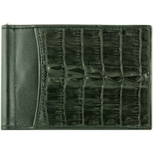 Genuine alligator leather money clip NTCM59T Black