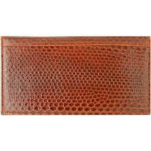 Genuine sea snake leather check book cover NTSN48 Tan