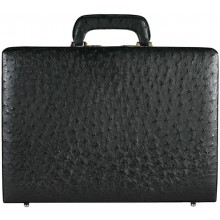 Genuine ostrich leather attache case OS044-02 Black