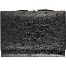 Genuine ostrich leather exclusive wallet OS872 Black