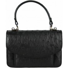 Genuine ostrich leather bag OSBAG068 Black