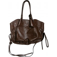 Genuine ostrich leather bag OSBAG138M Brown