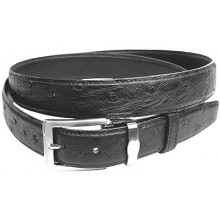 Genuine ostrich leather belt OSBELT001 Black