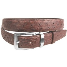 Genuine ostrich leather belt OSBELT001 Brown