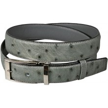 Genuine ostrich leather belt OSBELT001 Grey