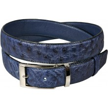 Genuine ostrich leather belt OSBELT001 Midnight Blue