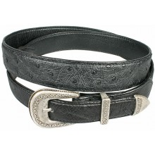 Genuine ostrich leather belt OSBELT002 Black