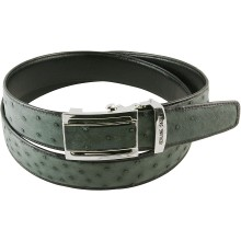 Genuine ostrich leather belt OSBELT004-B Grey