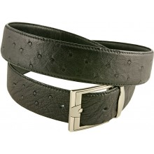 Genuine ostrich leather belt OSBELT004 Black