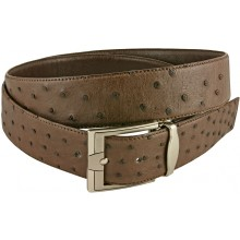Genuine ostrich leather belt OSBELT004 Brown