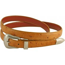 Genuine ostrich leather belt OSBELT005 Tan