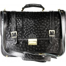 Genuine ostrich leather briefcase OSBRIEF8803 Black