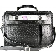 Genuine ostrich leather briefcase OSBRIEF8805 Black
