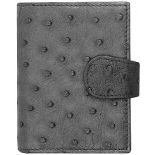 Genuine ostrich leather card holder OSCC001 Black