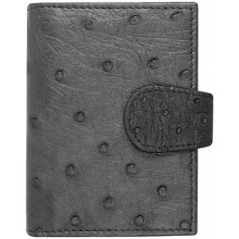 Genuine ostrich leather exclusive card holder OSCC501E Black