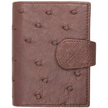 Genuine ostrich leather exclusive card holder OSCC501E Brown