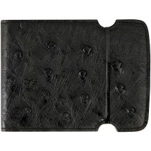Genuine ostrich leather cash cover OSCCOV01 Black