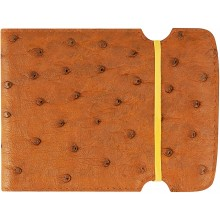 Genuine ostrich leather cash cover OSCCOV01 Brown