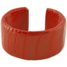 Genuine ostrich leather bracelet OSL-BR30 Red