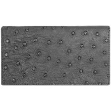 Genuine ostrich leather exclusive wallet OSLW801E Black