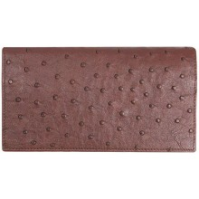 Genuine ostrich leather exclusive wallet OSLW801E Brown