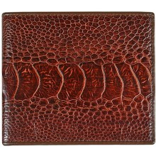 Genuine ostrich leather wallet OSOL04 Brown