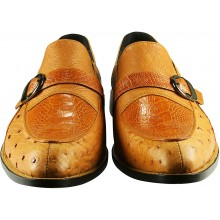 Genuine ostrich leather shoes OSSHOES04 Tan