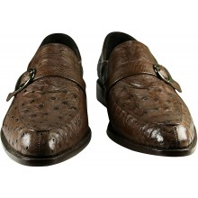 Genuine ostrich leather shoes OSSHOES05 Brown
