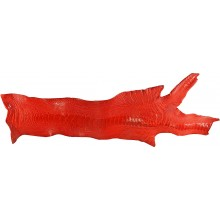 Genuine ostrich leg skin OSSKIN002 Fire Red