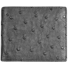 Genuine ostrich leather wallet OSSW001 Black