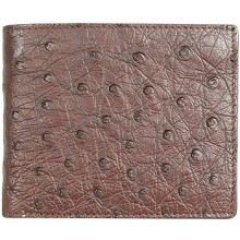 Genuine ostrich leather wallet OSSW001 Brown