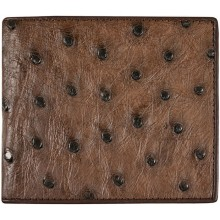 Genuine ostrich leather wallet OSSW003 Brown
