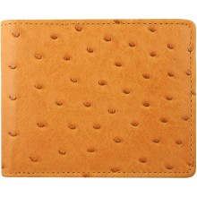 Genuine ostrich leather exclusive wallet OSSW501E Tan
