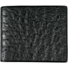 Genuine ostrich leather exclusive wallet OSSW516E Black