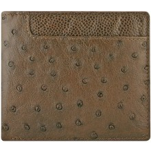 Genuine ostrich leather wallet OSW2-100A Brown