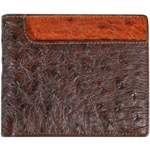 Genuine ostrich leather wallet OSW2-580A Brown