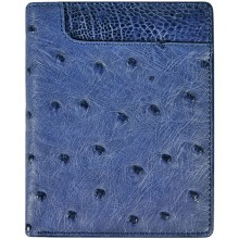 Genuine ostrich leather wallet OSW2-700A Midnight Blue